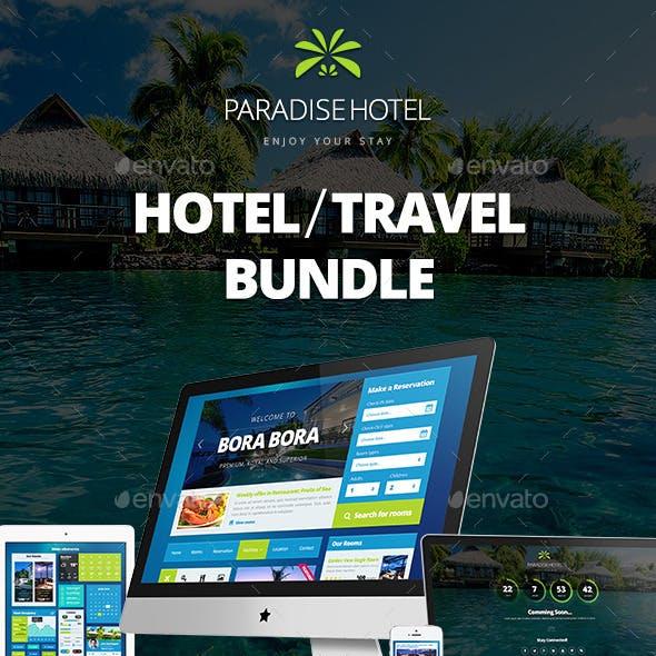Paradise Hotel Bundle: UI Kit, Emails, Banners