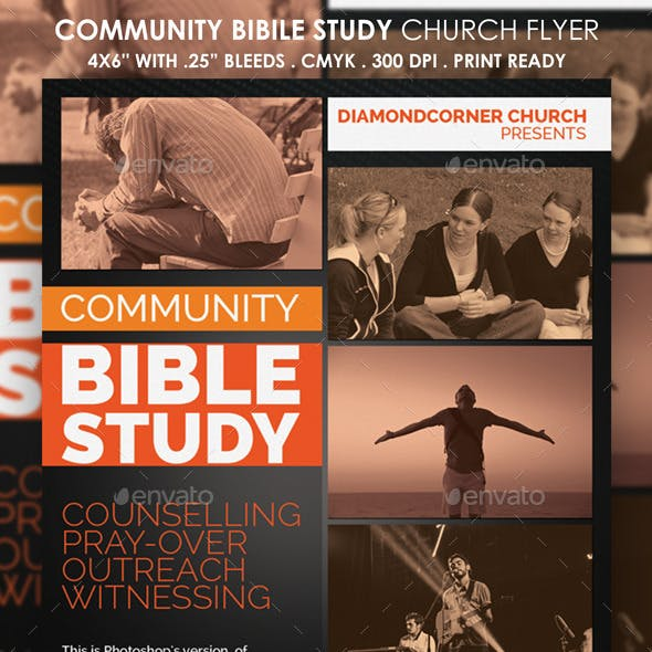 Community Bible Study Church Flyer