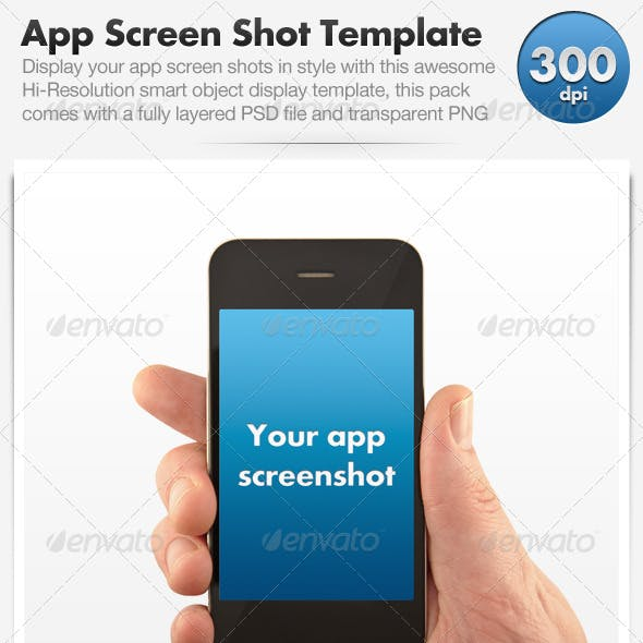 Smart Phone App Screenshot Display Template