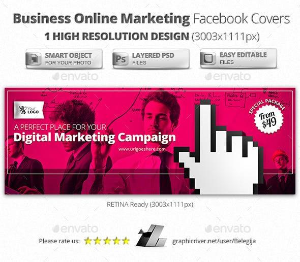 Business Online Marketing Facebook Covers by Belegija | GraphicRiver