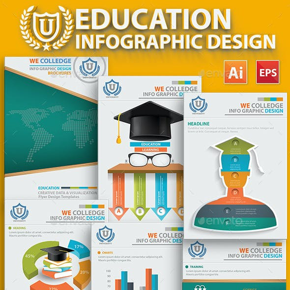 Education Infographic 17 Pages Design