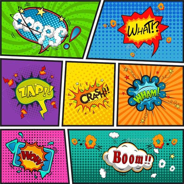 Comic Speech Bubbles Background