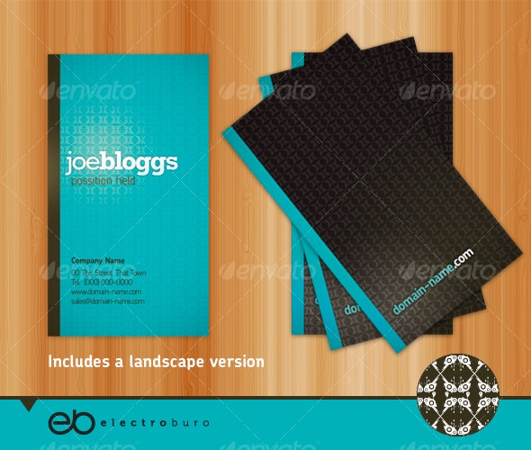 Generic Business Card - Portrait & Landscape - Creative Business Cards