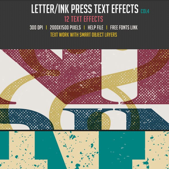 Letter/Ink Press Vintage Text Effects 4