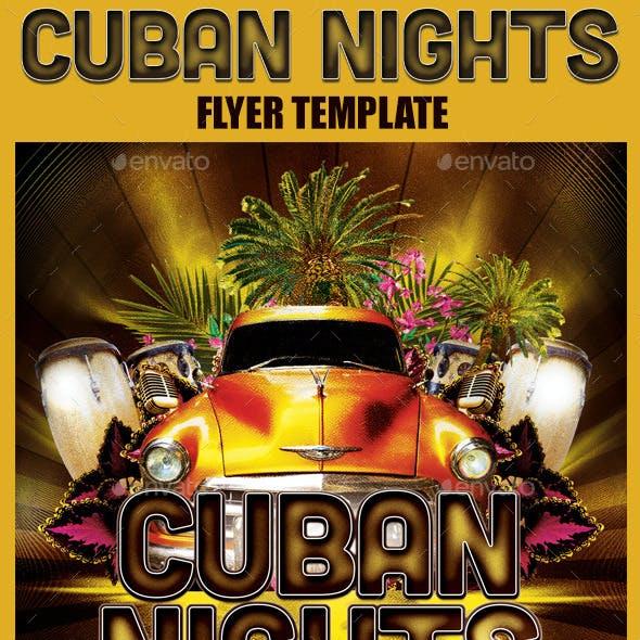 Cuban Nights Flyer Template