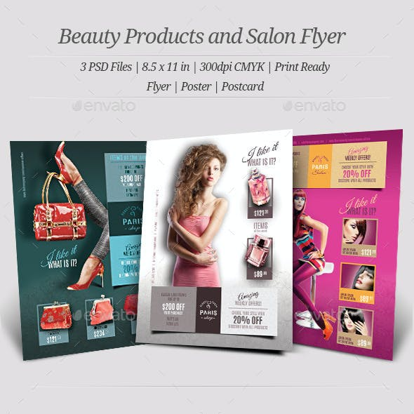 Beauty Products and Salon Flyers