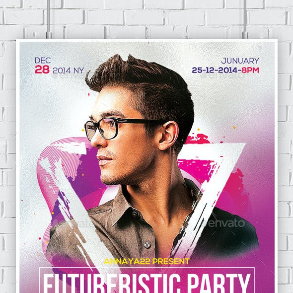 Electro Concert Dj Flyers Bundle
