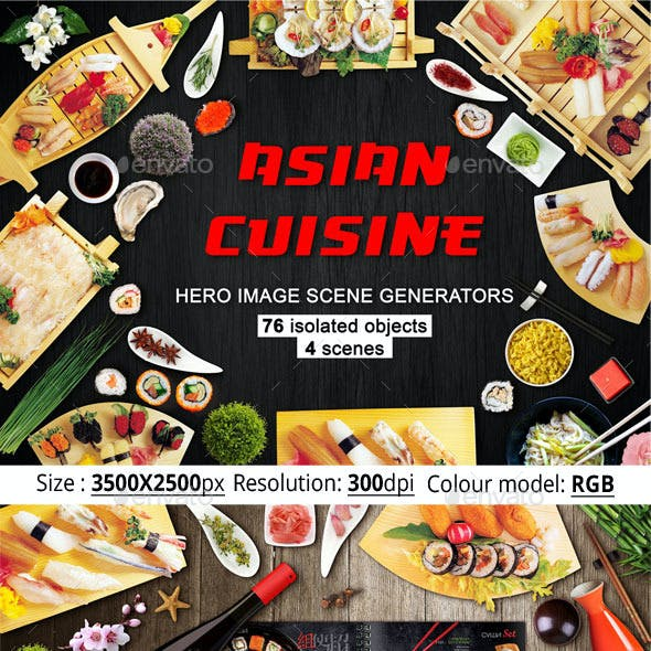 Asian Cuisine Hero Image Scene Generators