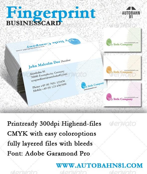 Businesscard Fingerprint - Creative Business Cards