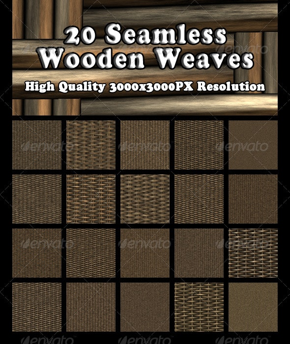 20 Seamless Wooden Weaves - Wood Textures