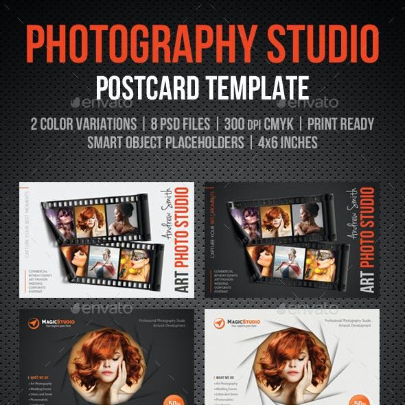 Photography Studio Postcard Template Pack