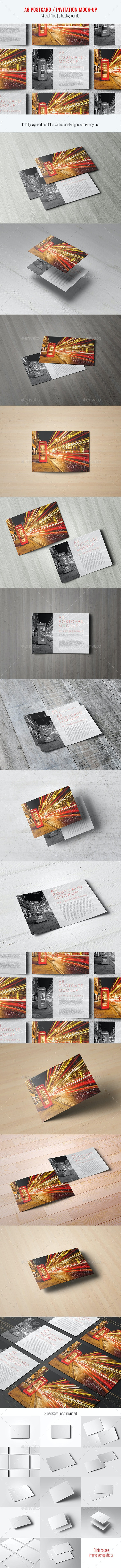 A6 Postcard / Invitation Mock-Up - Miscellaneous Print