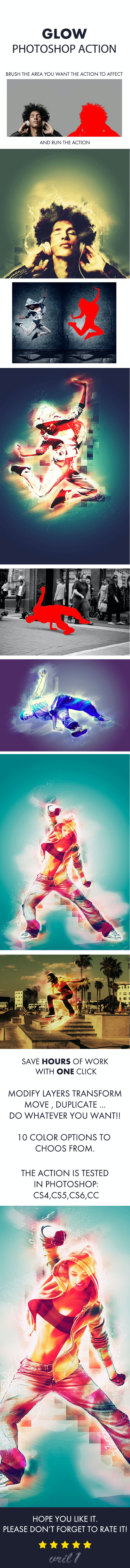 Glow Photoshop Action - Photo Effects Actions