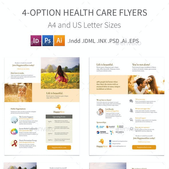 Health Care Flyers – 4 Options