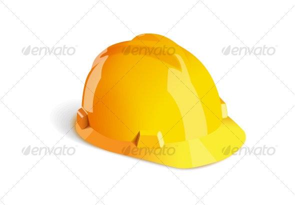 Building helmet - Objects Vectors
