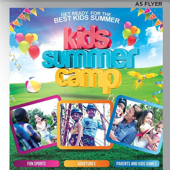 Kids Summer Camp Flyer Templete