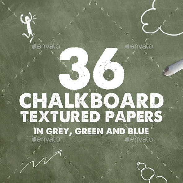 36 Chalkboard Textures in 3 Shades