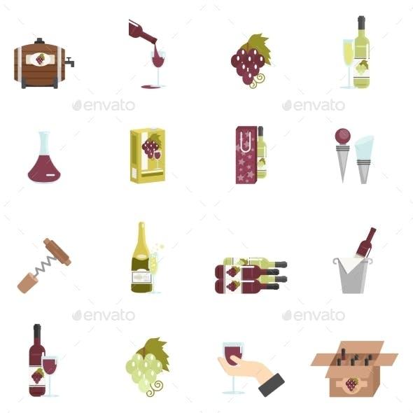 Wine Icon Flat
