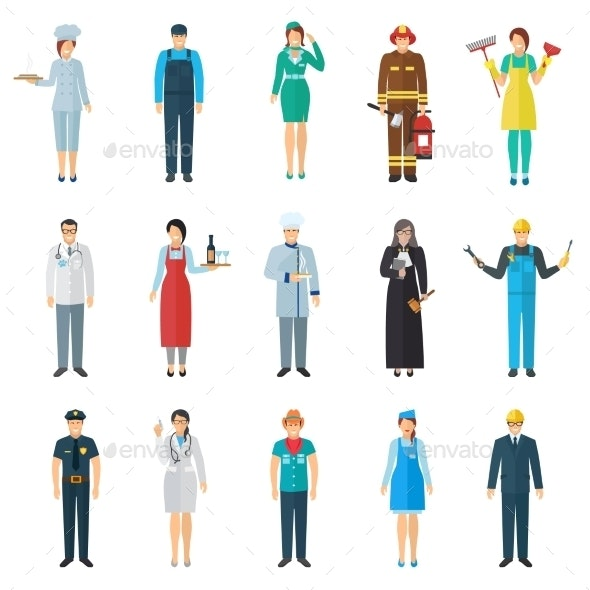 Profession Avatar Icons Set - People Characters