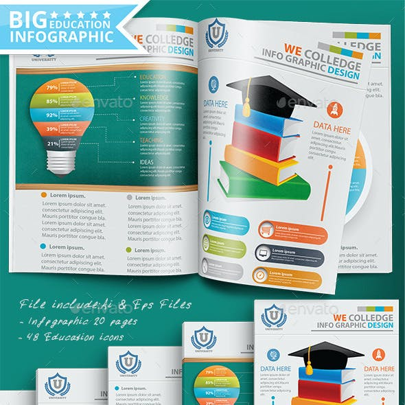 Education Infographic Design 20 Pages