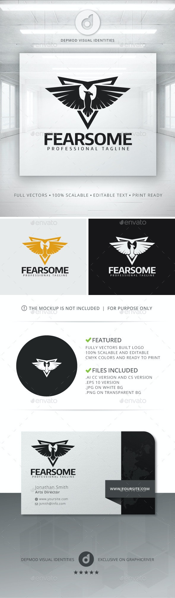 Fearsome Logo - Crests Logo Templates