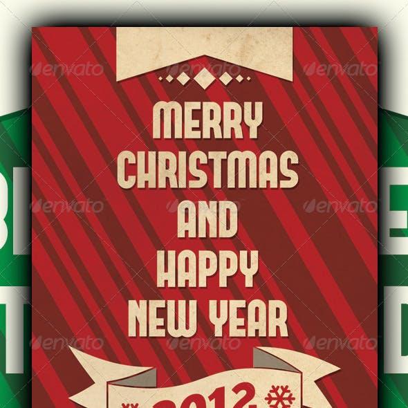 Retro Merry Christmas Card v2