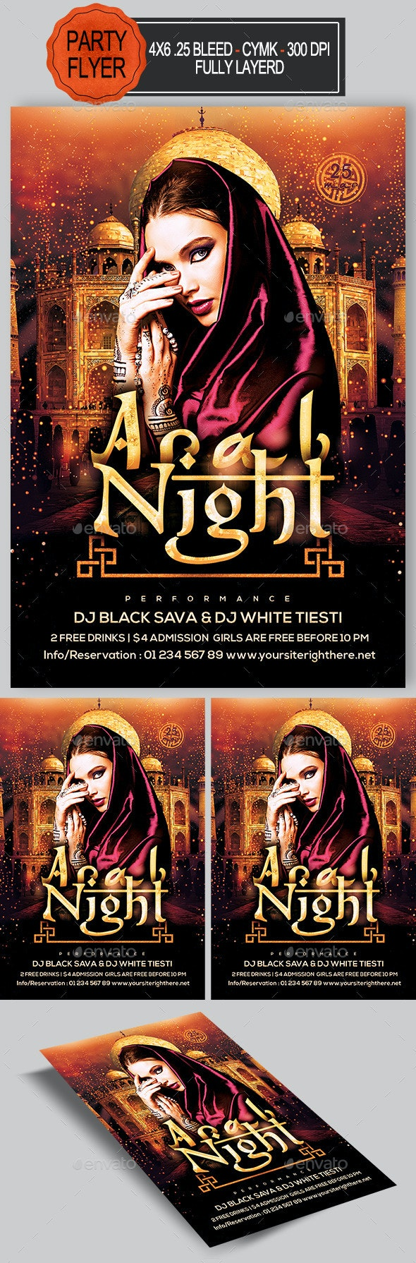 Arab Night Flyer  - Clubs & Parties Events