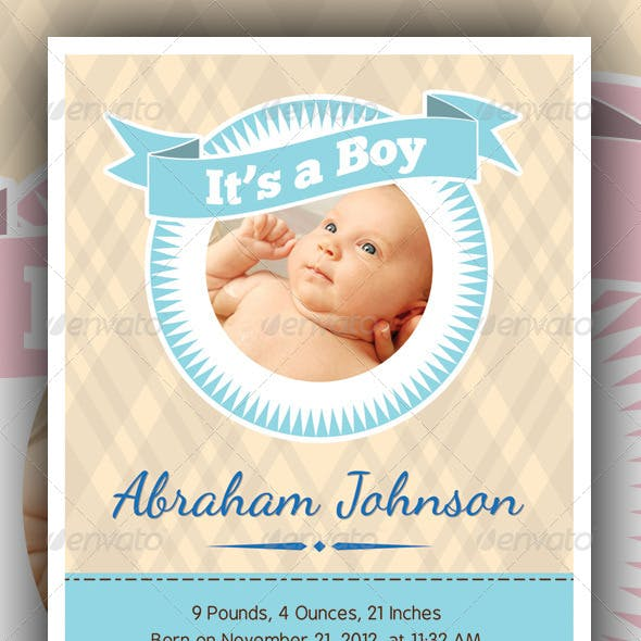 Baby Announcement Cards v3