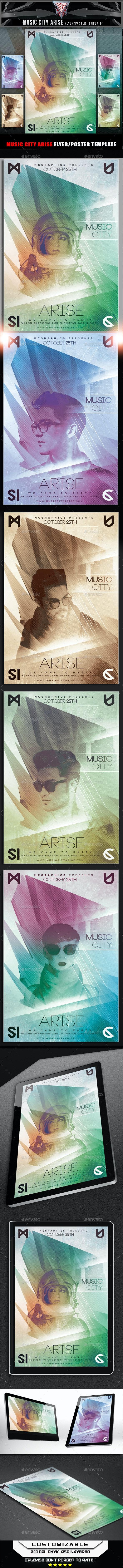 Music City Arise Flyer Template - Flyers Print Templates