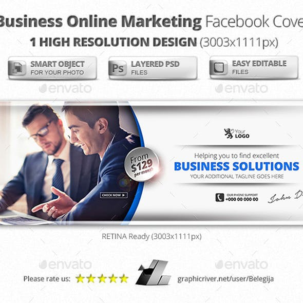 Business Online Marketing Facebook Cover