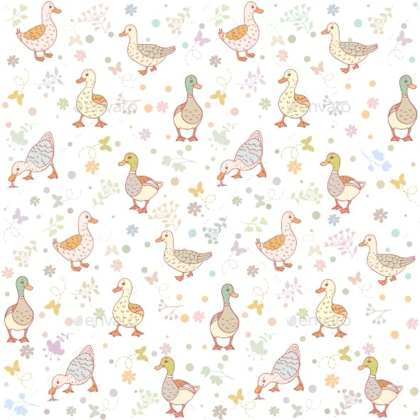 Ducks Seamless Background
