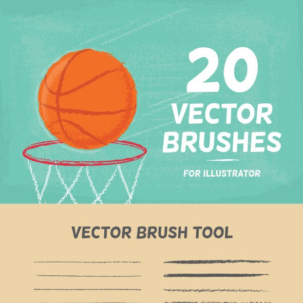 20 Vector Brushes Set
