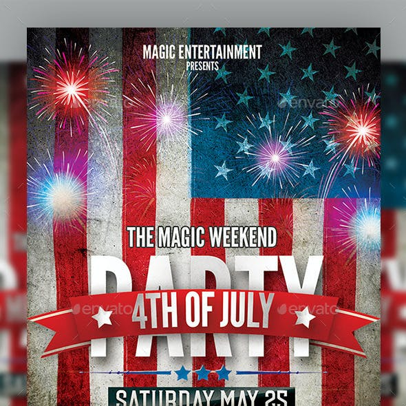 4th July 2015 Flyer Template n Memorial Day
