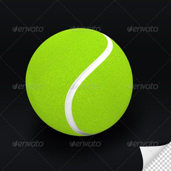 Tennis Ball 3D Render