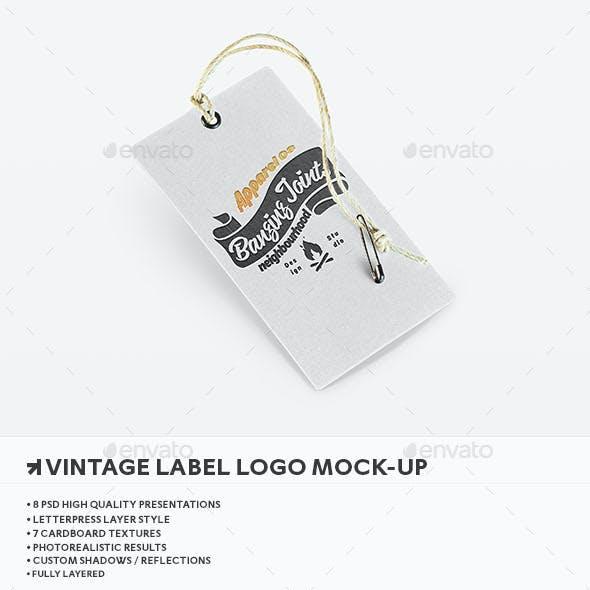 Letterpress Label Logo Mockup