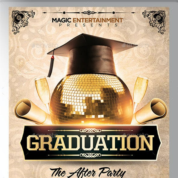 b175a5c81d5 Graduation After Party Flyer Template