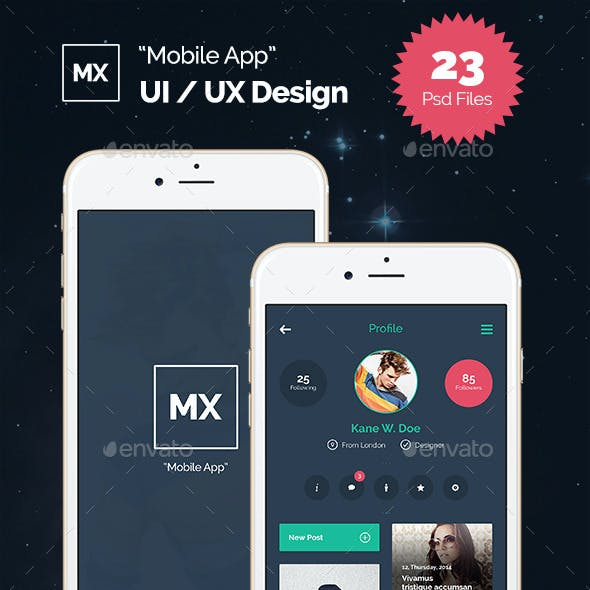 MX -  Mobile UI Kit
