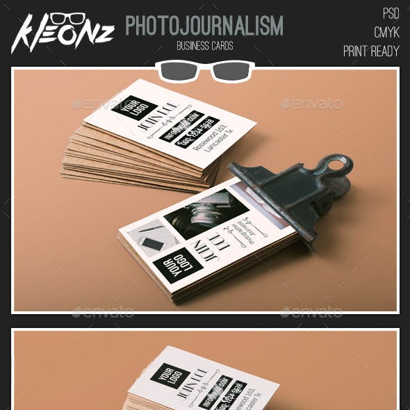 Photojournalism - Business Cards