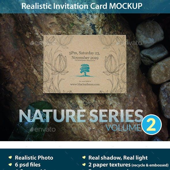 Invitation Card Mockup Nature Series Volume2