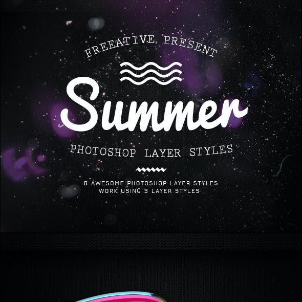 Summer Photoshop Layer Styles