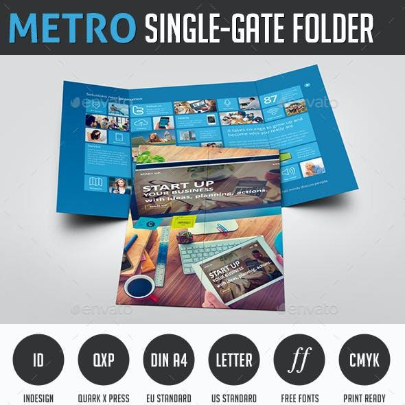 Metro Single-Gate Folder