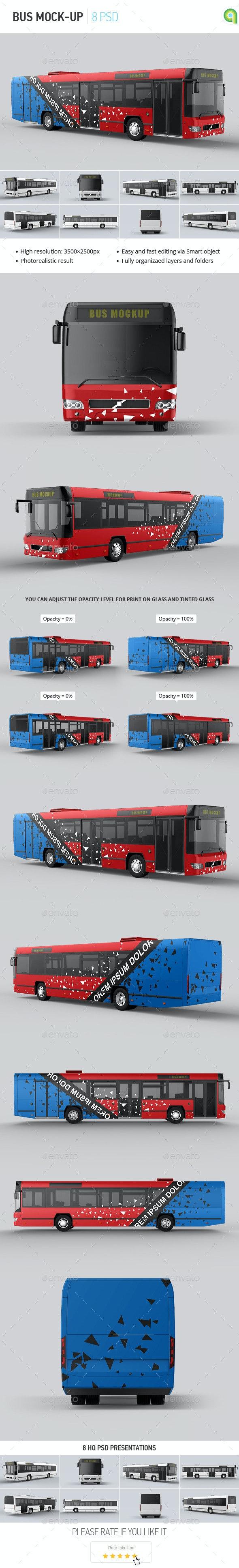 Bus Mock-up - Vehicle Wraps Print