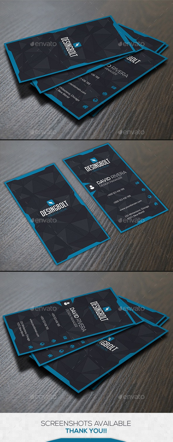 Blue Creative Business Card - Business Cards Print Templates