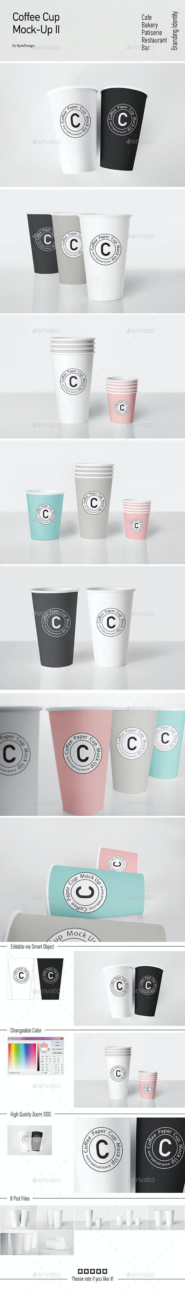 Coffee Cup Mock-Up II - Food and Drink Packaging