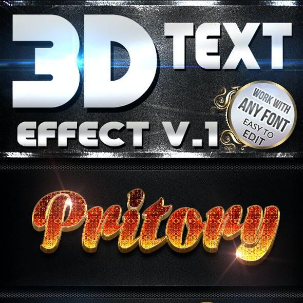 3D Text Effect V.1