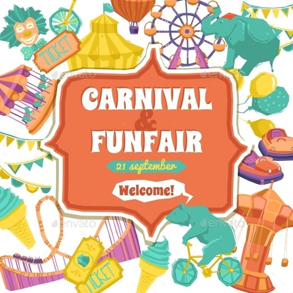 Fun Fair and Carnival Poster