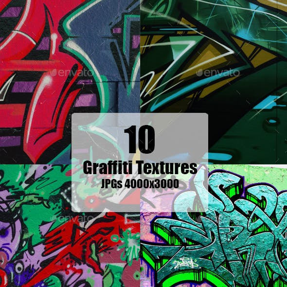 Graffiti Wall Texture set