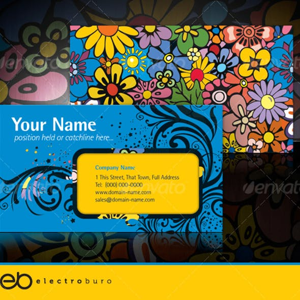 Flower Power - Visual impact business card