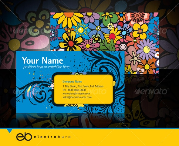 Flower Power - Visual impact business card - Creative Business Cards