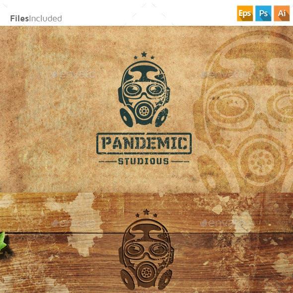 Gas Mask Bio Hazard Logo